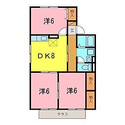 ぷらっとMIYUKI E[102号室]の間取り