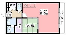 飯阪ビル[302号室]の間取り