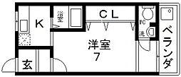 ロフティ長堂[202号室号室]の間取り
