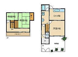 [一戸建] 兵庫県神戸市須磨区離宮西町2丁目 の賃貸【/】の間取り