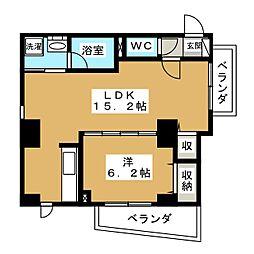 プレサンス京都四条河原町ネクステージ[2階]の間取り