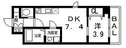 FLATS MINAGUCHI(フラッツミナグチ)[207号室号室]の間取り