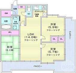 ライオンズマンション原町第二 4階3LDKの間取り