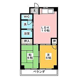 エステートOSM四番[6階]の間取り