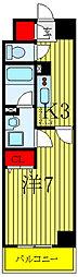 JR埼京線 北赤羽駅 徒歩5分の賃貸マンション 2階1Kの間取り