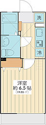 JR京葉線 新浦安駅 徒歩16分の賃貸アパート 1階1Kの間取り