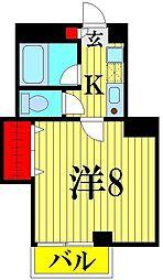 埼玉県越谷市瓦曽根2丁目の賃貸マンションの間取り