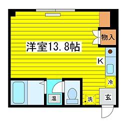 北海道札幌市東区北二十四条東17丁目の賃貸マンションの間取り