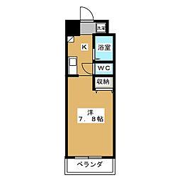 CASA YAMABUN[6階]の間取り