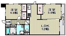 プライムハイツ南花田[10階]の間取り