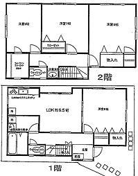 [一戸建] 神奈川県横浜市都筑区東山田町 の賃貸【/】の間取り