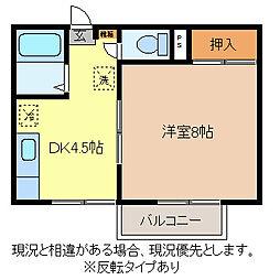 竹下コーポ2[2階]の間取り