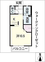 スピリトA[2階]の間取り