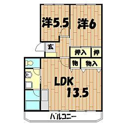 神奈川県横浜市瀬谷区瀬谷4丁目の賃貸マンションの間取り