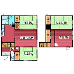 [一戸建] 北海道札幌市豊平区月寒東二条12丁目 の賃貸【/】の間取り