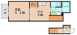福岡県福岡市東区土井1丁目の賃貸アパートの間取り