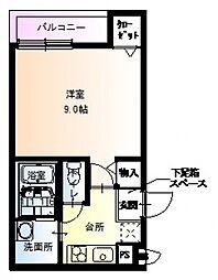 フジパレス駒川中野II番館[203号室号室]の間取り