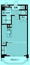 アジュール溝口[4階]の間取り
