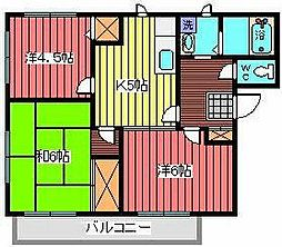 JR京浜東北・根岸線 西川口駅 徒歩22分の賃貸アパート 1階3DKの間取り