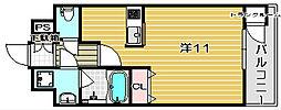 アーバネックス高槻芥川[905号室]の間取り