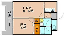 アルティ博多駅南[6階]の間取り