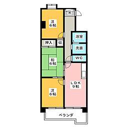 ハイツ桜台[4階]の間取り