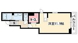 愛知県名古屋市名東区高針4丁目の賃貸アパートの間取り