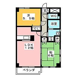 セレッソトキワ[7階]の間取り