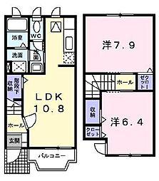 [テラスハウス] 埼玉県さいたま市南区文蔵4丁目 の賃貸【/】の間取り