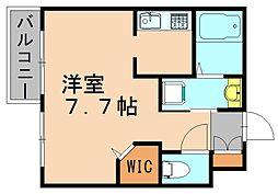 カーサ千代[3階]の間取り