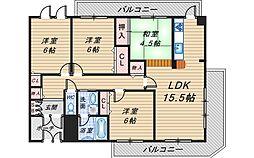 シャインロータス[2階]の間取り