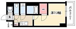 エスリード新栄デュオ 9階1Kの間取り