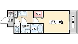 JR東西線 大阪天満宮駅 徒歩9分の賃貸マンション 13階1Kの間取り
