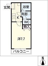 アスカI[1階]の間取り