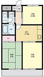 ウィスタリアマンション[207号室号室]の間取り