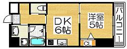 住吉橋ポルト[6階]の間取り