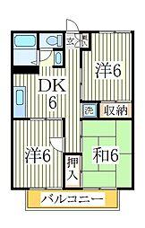 ファミールハウス[1階]の間取り
