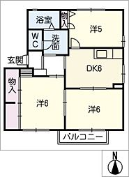 HALU HOUSE C[2階]の間取り