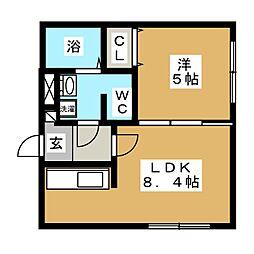 ブランノワール東札幌[4階]の間取り
