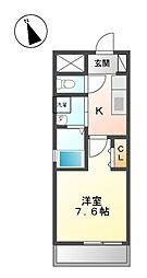 コートデリヴィエール上飯田[6階]の間取り