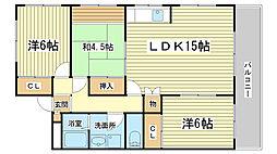 プラザ澤田[301号室]の間取り