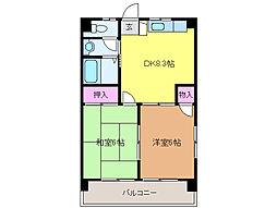 愛媛県松山市本町2丁目の賃貸マンションの間取り