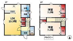 [タウンハウス] 千葉県松戸市栄町西1丁目 の賃貸【/】の間取り
