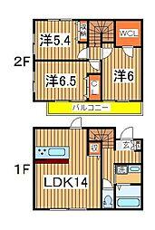 [テラスハウス] 千葉県柏市若柴 の賃貸【/】の間取り