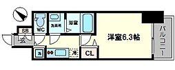 プレサンスOSAKA DOMECITY ワンダー 5階1Kの間取り