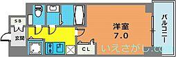 エスリード神戸三宮ラグジェ[15階]の間取り