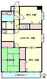 レインボーリーフ本厚木[1階]の間取り