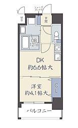 Osaka Metro谷町線 中崎町駅 徒歩4分の賃貸マンション 7階1DKの間取り