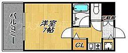ダイナコートベイサイド博多[4階]の間取り