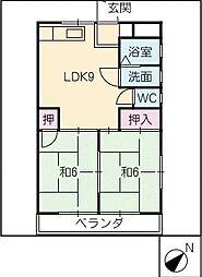 矢田ビル[2階]の間取り